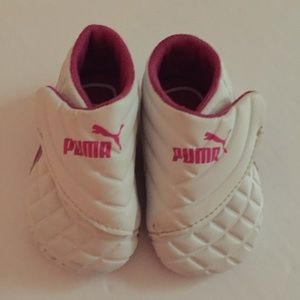 Puma Pink/White Baby Shoes
